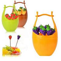 Вилочки для фруктов в корзинке 7пр/наб R84880 (240наб)