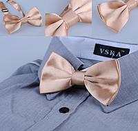 Бабочка галстук атлас айвори