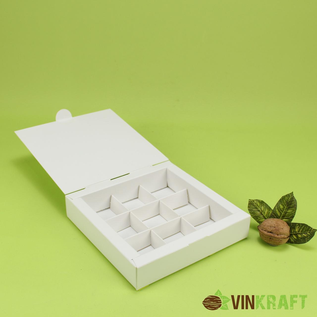 Коробка 150*150*30 для цукерок (9 шт), біла