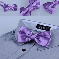 Бабочка галстук сирень атлас , фото 1