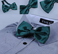 Бабочка галстук узумруд атлас , фото 1