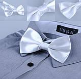 Краватка метелик узумруд атлас, фото 7