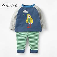 Костюм детский 2 в 1 для мальчика Цыпленок Malwee Синий с зеленым (51340)