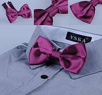 Бабочка галстук вино атлас
