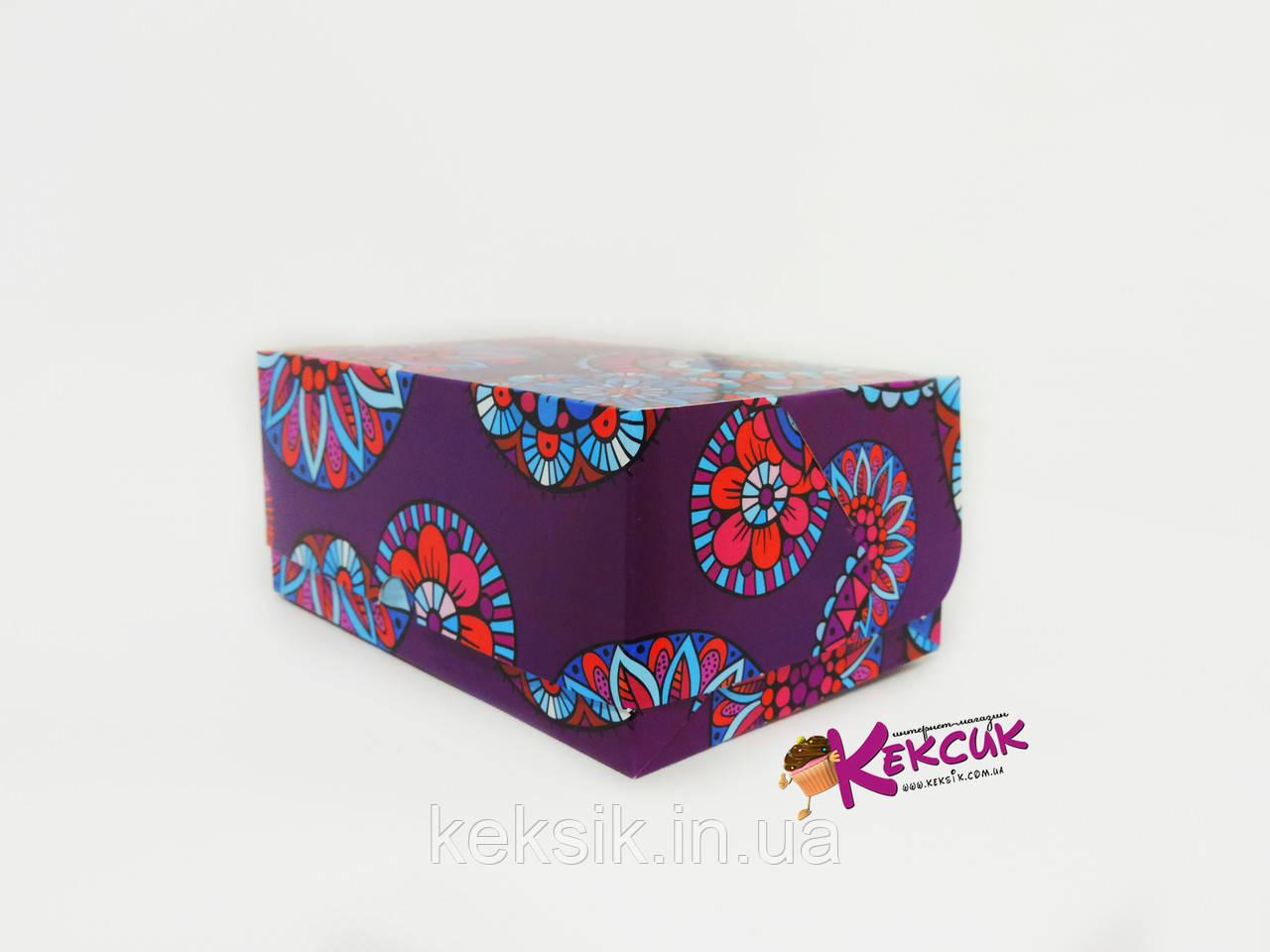Коробка контейнер Цветы 180*120*80