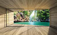 Фотообои 3D Природа 368х254 см Вид с окна на море (3315P8)