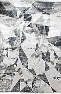 Ковер VALENTINO V206B 0,8*1,5, CREAM / D.GREY, Прямоугольник