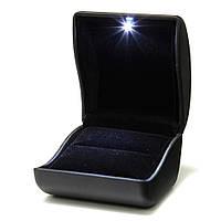 Коробочка для предложения со светодиодной подсветкой, чёрная