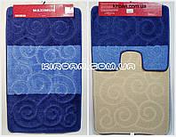 "Набор ковриков для ванной ""Maximus"", производство Турция 100*60 см + 50*60 см (цвет синий), фото 1"