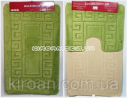 """Набор ковриков для ванной """"Maximus"""", производство Турция 100*60 см + 50*60 см (цвет зеленый)"""