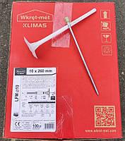Дюбель фасадный Wkret-Met LFM 10х260мм для ваты и пенопласта с металлическим стержнем и термоголовкой 100 штук