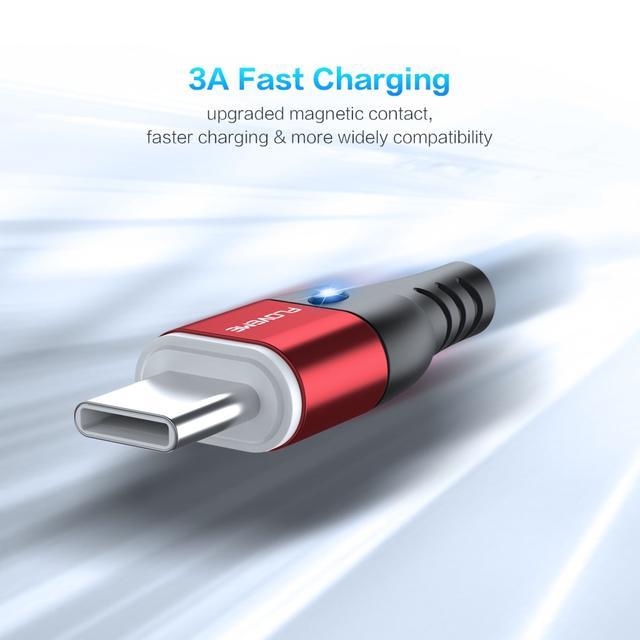Магнитный кабель Lightning Floveme для зарядки iPhone/iPad/iPod Черный 1м