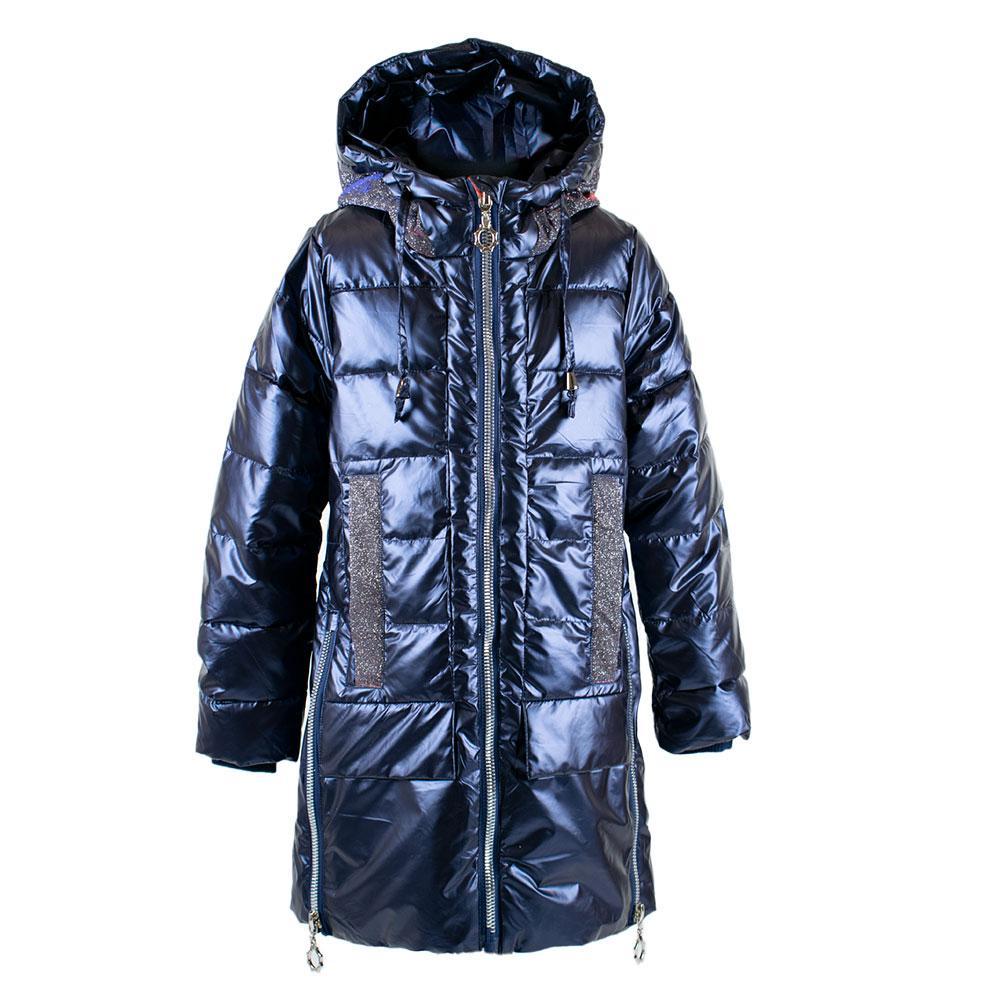 """Пальто демисезонное для девочек """"Feng shuoda"""" 146  синий 1888"""