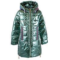 """Пальто демисезонное для девочек """"Feng shuoda"""" 140 зеленый 1888"""