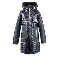 """Пальто демисезонное для девочек """"Yinuo"""" 134 черный 19-5"""