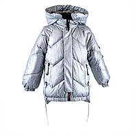 """Куртка демисезонная для девочек """"Xuan feng"""" КНР весна осень арт.980575 серебро"""