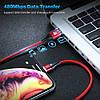 Магнитный кабель Micro USB Floveme для зарядки и передачи данных (Черный, 1м), фото 3