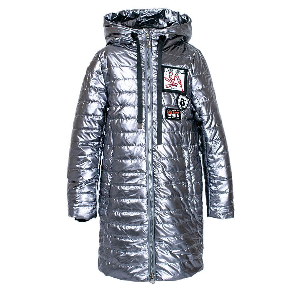 Пальто демисезонное для девочек Delfin 134  серебро D20B