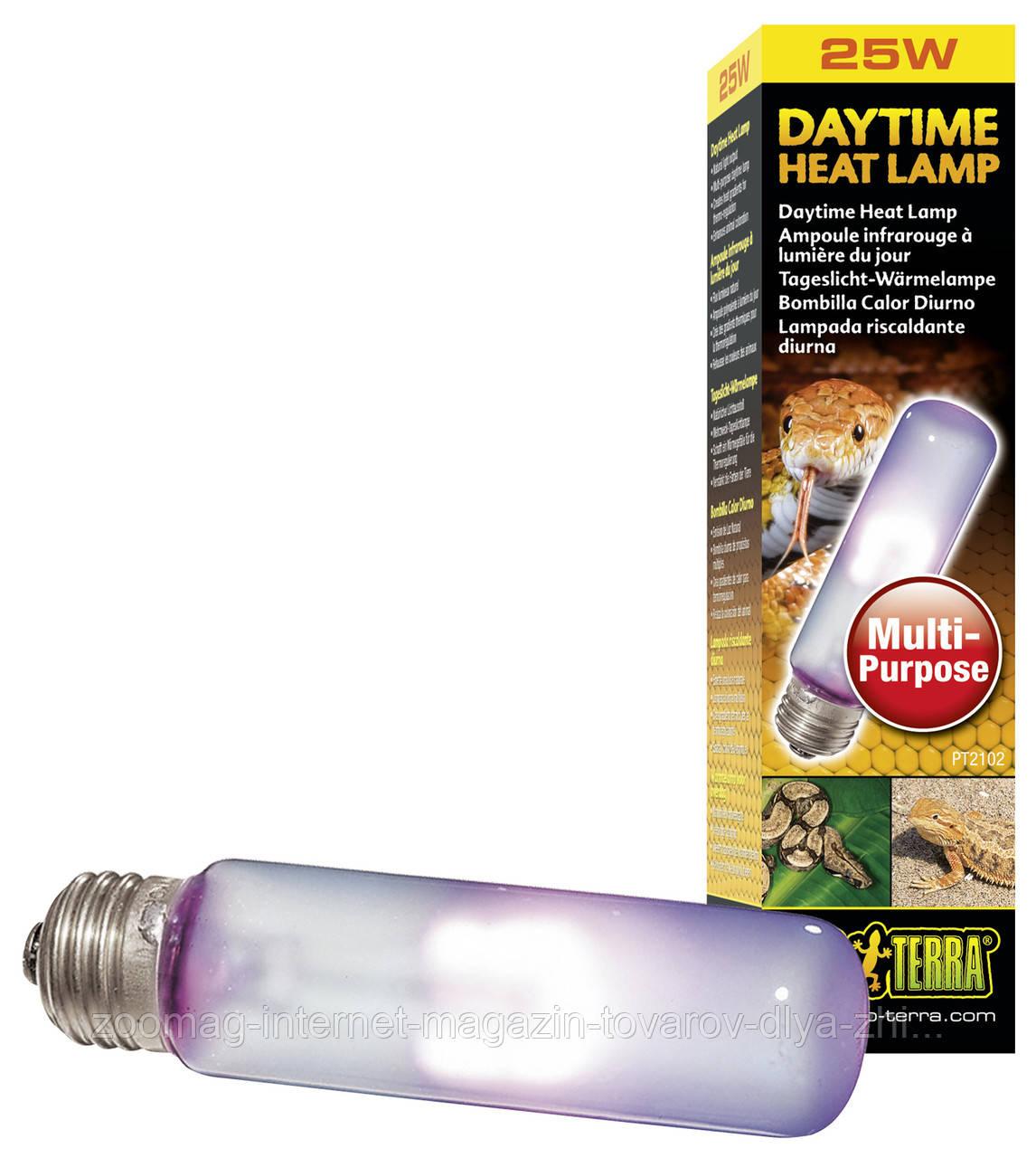 """Лампа дневного света неоновая для террариума (T10/25W) """"Exo Terra Deatime Heat Lamp"""""""