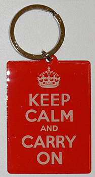 Брелок Nostalgic-Art Keep Calm and carry on