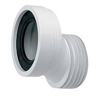 Подключение унитаза L125мм, ексц/смещ 40мм, вход 90-110мм  выход 110мм с уплотнит манжетой, Mcalpine HC38