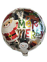 Воздушный фольгированный шар Merry Christmas