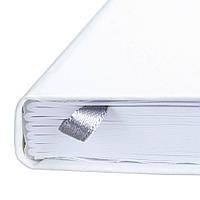 Записная книжка А5, белая обложка Матра с белыми страницами.  Под нанесение логотипа цветом или тиснением