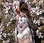 Журавушка 527-1, павлопосадский вовняну хустку з шовковою бахромою, фото 10