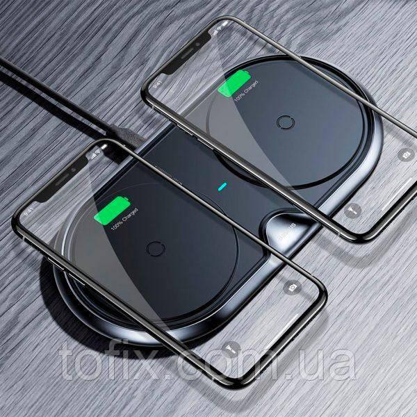 Беспроводное зарядное устройство Baseus Dual Wireless Charger Plastic Style (WXSJK-01)