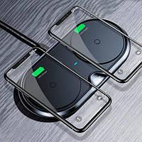Беспроводное зарядное устройство Baseus Dual Wireless Charger Plastic Style (WXSJK-01), фото 1