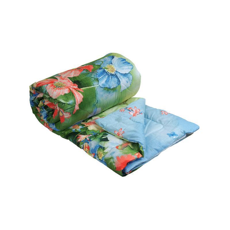"Одеяло 172х205 шерстяное ""Summer flowers"""