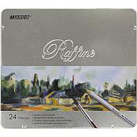 Акварельні олівці Marco Raffine 24 кольору шестигранні, 7120-24TN