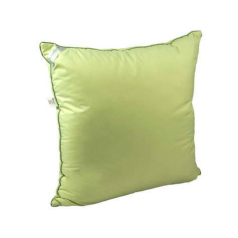 Подушка 70х70 бамбуковая салатовая, фото 2