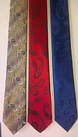 Галстук узкий, натуральный шелк высокого качества. Длина- 148 см., ширина в конце галстука 5 см.