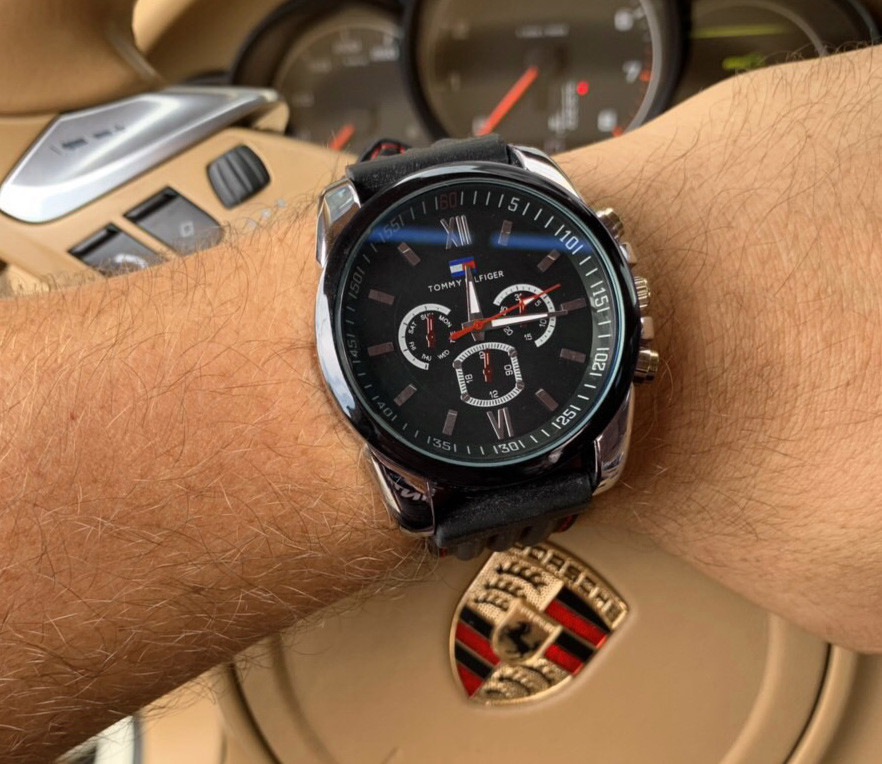 Часы мужские Tommy Hilfiger D3602 черные кварцевые