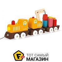 Игрушка-каталка Janod Поезд на магнитах (J08089)
