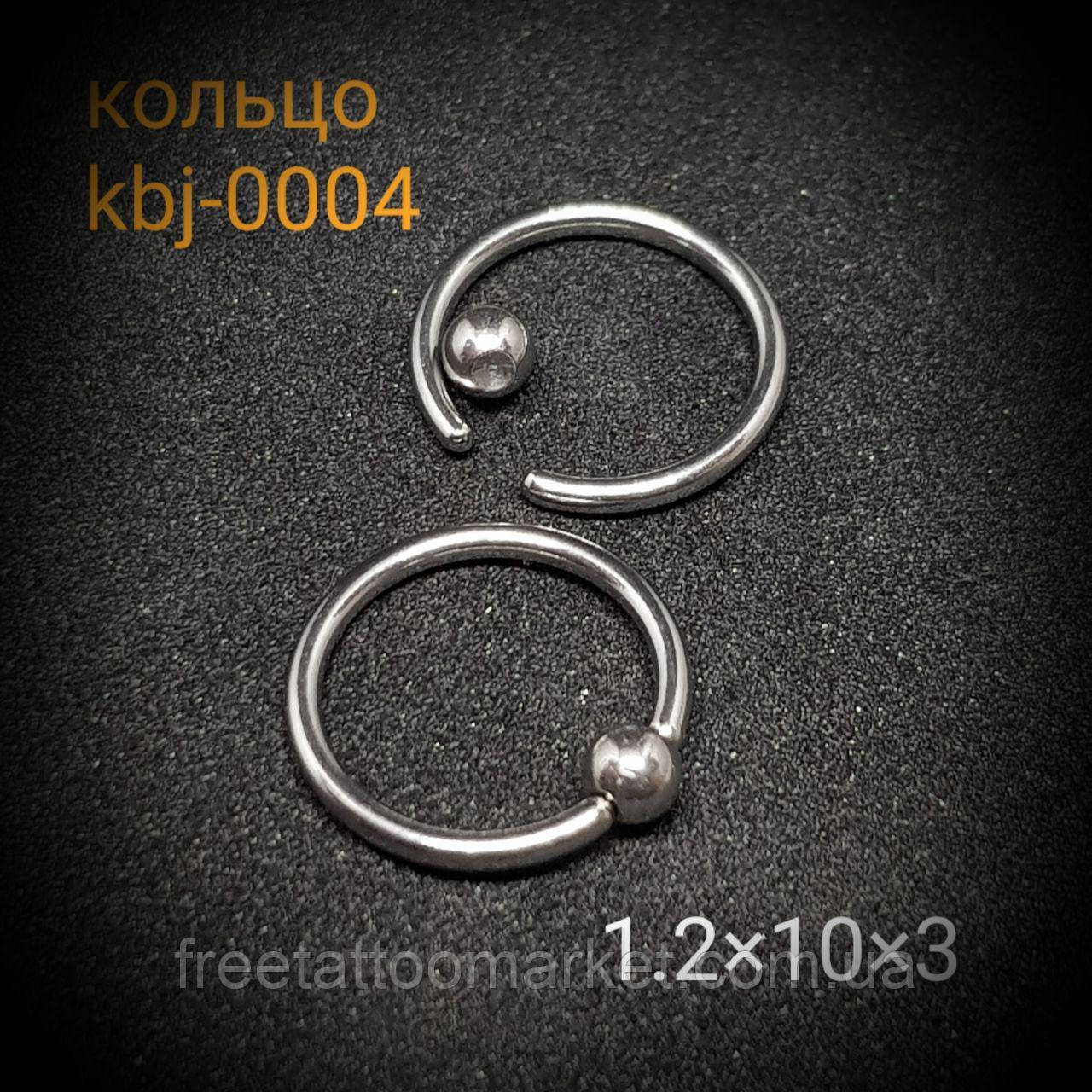 Кольцо 1.2 х 10 х 3мм, сталь 316L