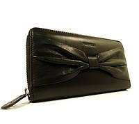 Кошелек кожаный на молнии Prensiti 42004 черный, расцветки в наличии