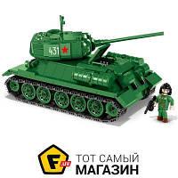 Моделист-конструктор конструктор для мальчиков от 7 лет вторая мировая война - Cobi Танк Т-34/85 (COBI-2476A)