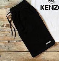 Мужские шорты Kenzo удобные комфортные в черном цвете, ТОП-реплика
