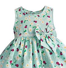 Платье для девочки Божья коровка, бирюзовый Zoe Flower, фото 3