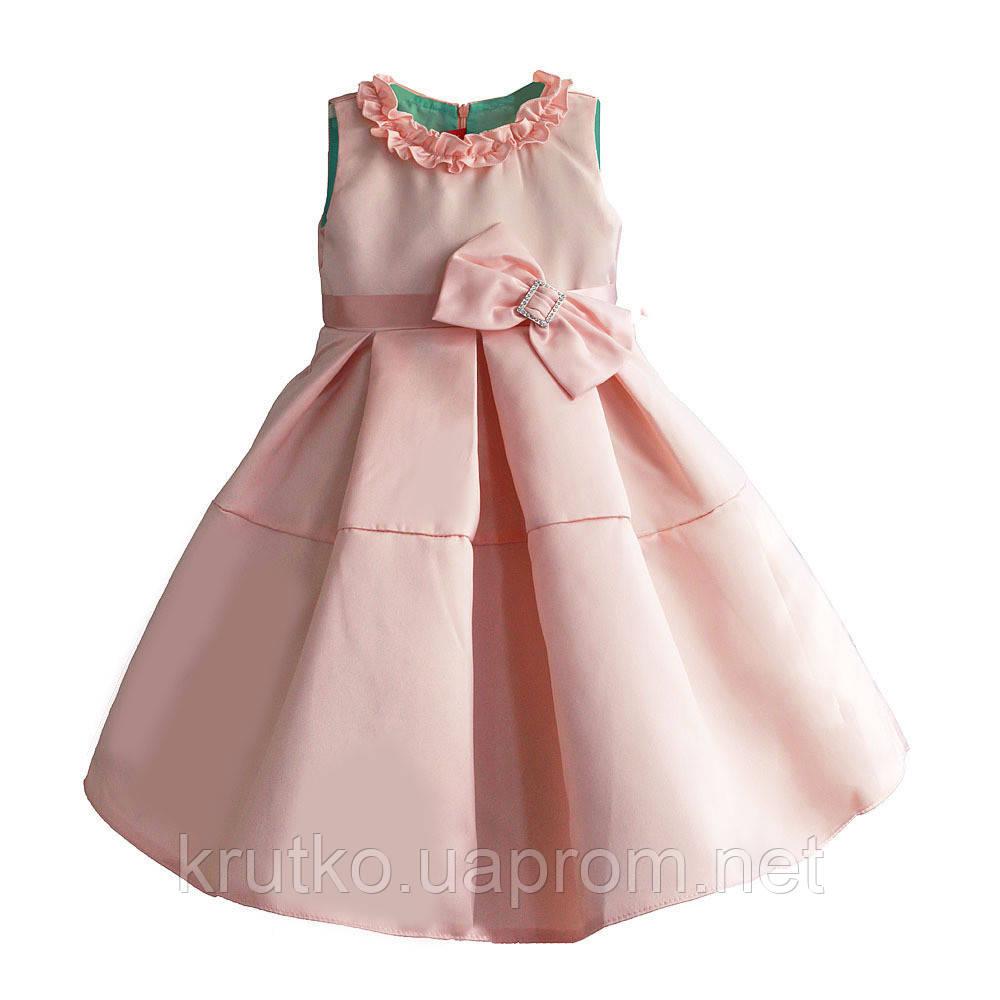 Платье для девочки Бант, персиковый Zoe Flower