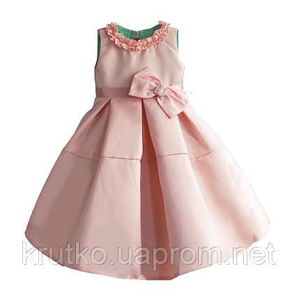 Платье для девочки Бант, персиковый Zoe Flower, фото 2