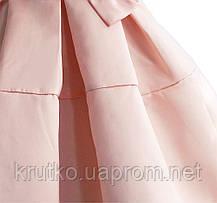 Платье для девочки Бант, персиковый Zoe Flower, фото 3