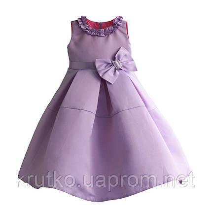 Платье для девочки Бант, сиреневый Zoe Flower, фото 2