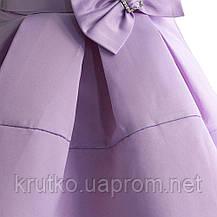 Платье для девочки Бант, сиреневый Zoe Flower, фото 3