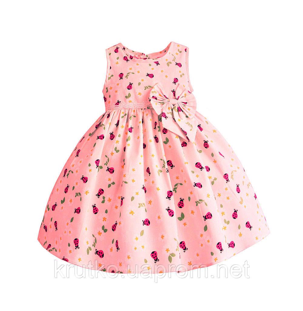 Платье для девочки Божья коровка, розовый Zoe Flower