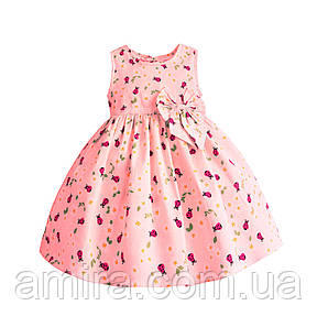 Платье для девочки Божья коровка, розовый Zoe Flower, фото 2