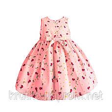 Платье для девочки Божья коровка, розовый Zoe Flower, фото 3