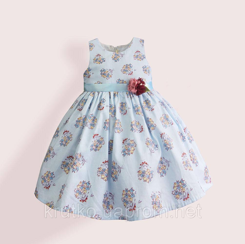 Платье для девочки Букет, голубой Zoe Flower